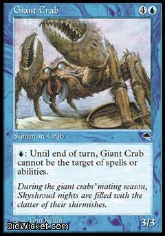 Giant Crab, Tempest, Magic the Gathering