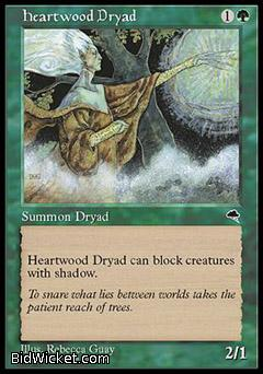 Heartwood Dryad, Tempest, Magic the Gathering