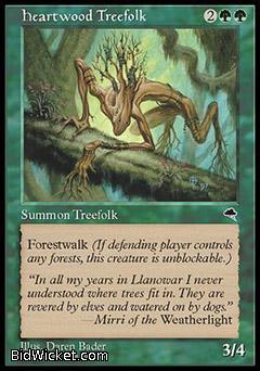 Heartwood Treefolk, Tempest, Magic the Gathering
