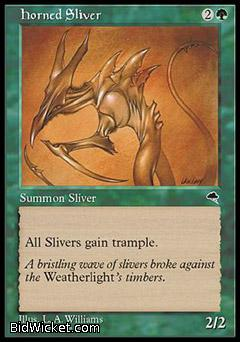 Horned Sliver, Tempest, Magic the Gathering