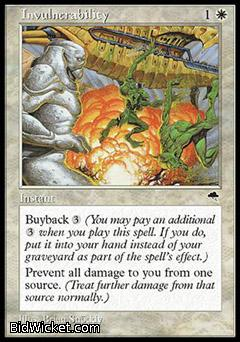 Invulnerability, Tempest, Magic the Gathering