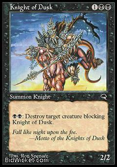 Knight of Dusk, Tempest, Magic the Gathering