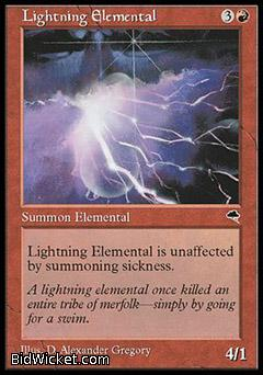 Lightning Elemental, Tempest, Magic the Gathering