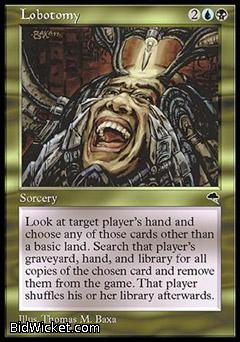 Lobotomy, Tempest, Magic the Gathering