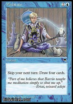 Meditate, Tempest, Magic the Gathering