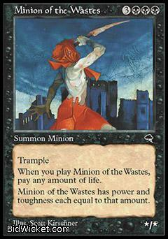 Minion of the Wastes, Tempest, Magic the Gathering