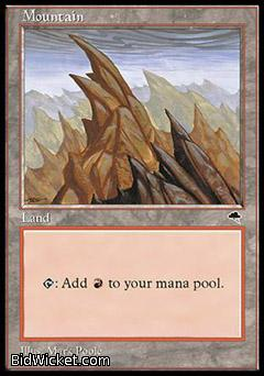 Mountain D, Tempest, Magic the Gathering