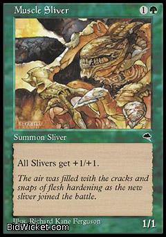 Muscle Sliver, Tempest, Magic the Gathering
