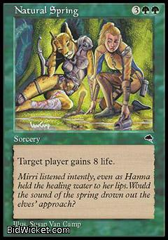 Natural Spring, Tempest, Magic the Gathering