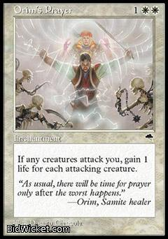 Orim's Prayer, Tempest, Magic the Gathering