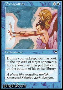 Precognition, Tempest, Magic the Gathering
