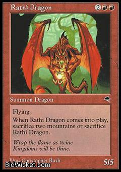 Rathi Dragon, Tempest, Magic the Gathering