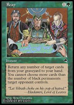 Reap, Tempest, Magic the Gathering