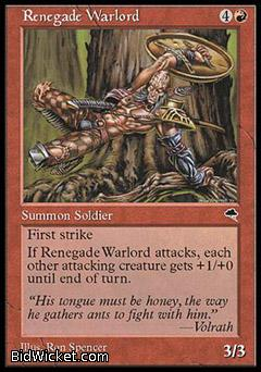 Renegade Warlord, Tempest, Magic the Gathering