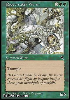 Rootbreaker Wurm, Tempest, Magic the Gathering