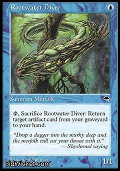Rootwater Diver, Tempest, Magic the Gathering
