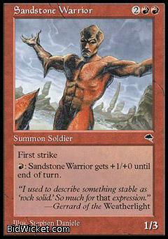 Sandstone Warrior, Tempest, Magic the Gathering