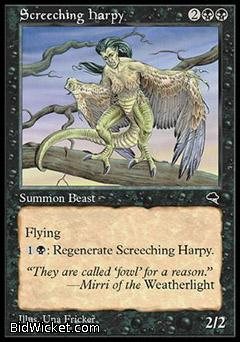 Screeching Harpy, Tempest, Magic the Gathering