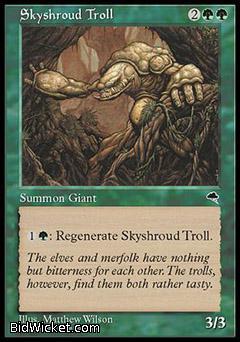 Skyshroud Troll, Tempest, Magic the Gathering