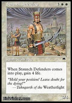 Staunch Defenders, Tempest, Magic the Gathering