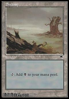 Swamp B, Tempest, Magic the Gathering