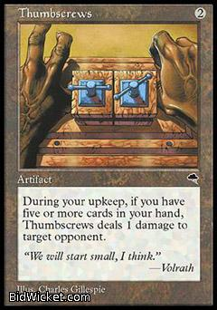 Thumbscrews, Tempest, Magic the Gathering