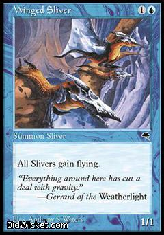 Winged Sliver, Tempest, Magic the Gathering