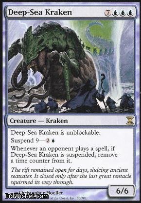 Deep-Sea Kraken, Time Spiral, Magic the Gathering
