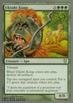 Uktabi Kong, Unhinged, Magic the Gathering