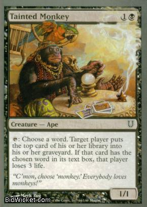 Tainted Monkey, Unhinged, Magic the Gathering