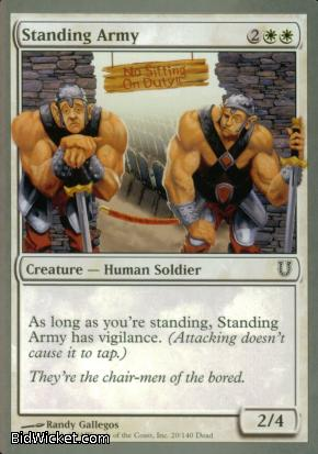 Standing Army, Unhinged, Magic the Gathering
