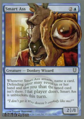 Smart Ass, Unhinged, Magic the Gathering