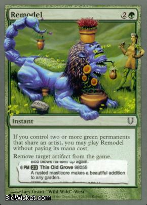 Remodel, Unhinged, Magic the Gathering