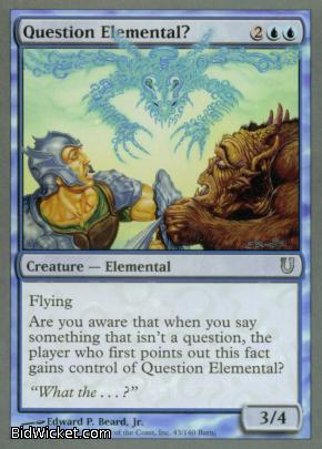 Question Elemental?, Unhinged, Magic the Gathering