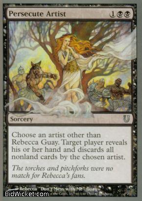 Persecute Artist, Unhinged, Magic the Gathering
