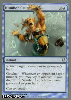 Number Crunch, Unhinged, Magic the Gathering