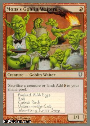 Mons's Goblin Waiters, Unhinged, Magic the Gathering