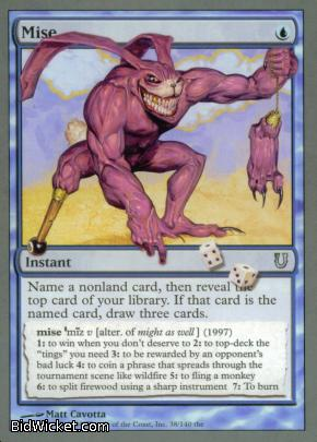 Mise, Unhinged, Magic the Gathering