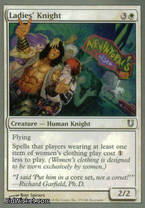 Ladies' Knight, Unhinged, Magic the Gathering