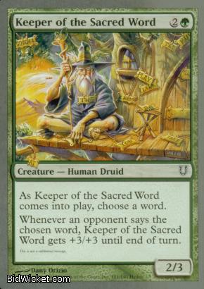 Keeper of the Sacred Word, Unhinged, Magic the Gathering
