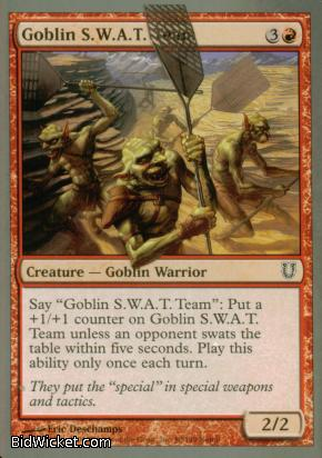 Goblin S.W.A.T. Team, Unhinged, Magic the Gathering