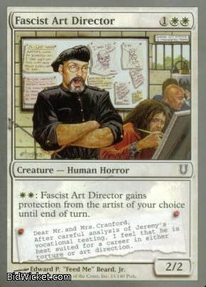 Fascist Art Director, Unhinged, Magic the Gathering