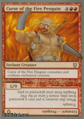 Curse of the Fire Penguin, Unhinged, Magic the Gathering