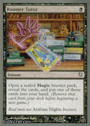 Booster Tutor, Unhinged, Magic the Gathering