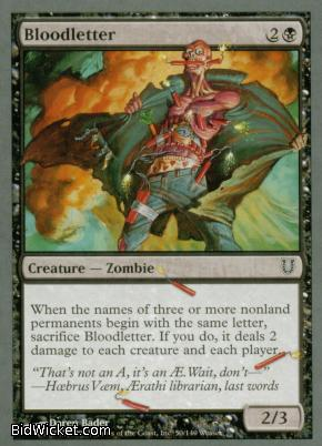 Bloodletter, Unhinged, Magic the Gathering