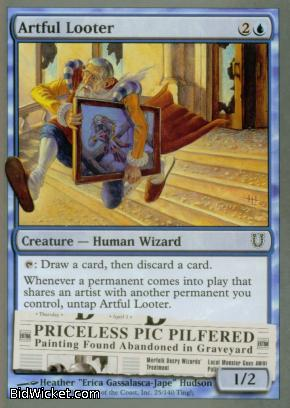 Artful Looter, Unhinged, Magic the Gathering