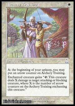 Archery Training, Urza's Destiny, Magic the Gathering