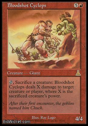 Bloodshot Cyclops, Urza's Destiny, Magic the Gathering