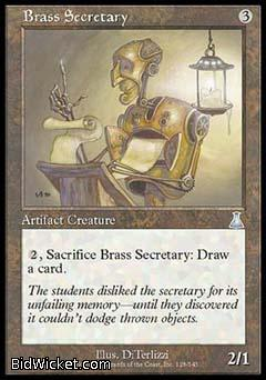 Brass Secretary, Urza's Destiny, Magic the Gathering
