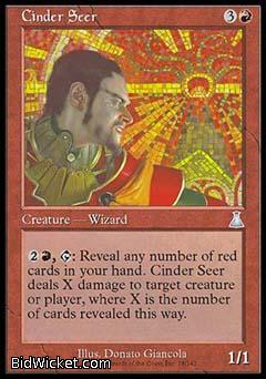 Cinder Seer, Urza's Destiny, Magic the Gathering